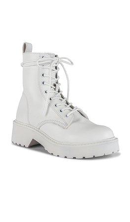 Steve Madden Tornado Boots in White Leather | REVOLVE