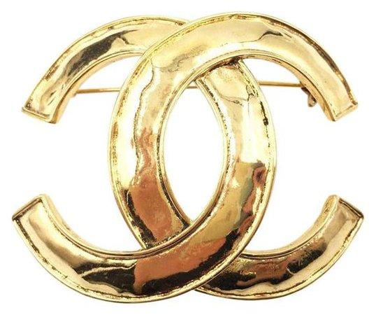 Gold Vintage Chanel Brooch Pin