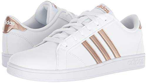 Amazon.com | adidas Performance Unisex-Kids Baseline, White/Matte Gold/Core Black, 12 M US Little Kid | Sneakers