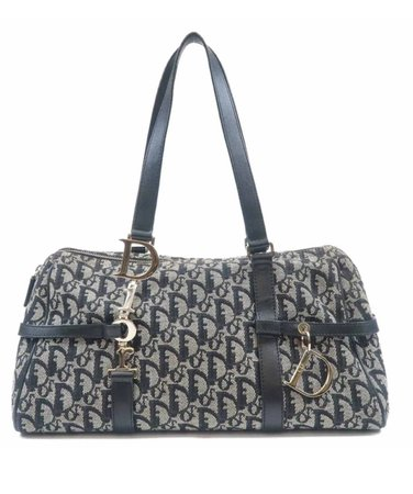 Christian Dior Trotter Canvas Leather Bag
