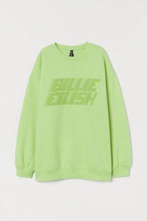 Billie eilish green sweater