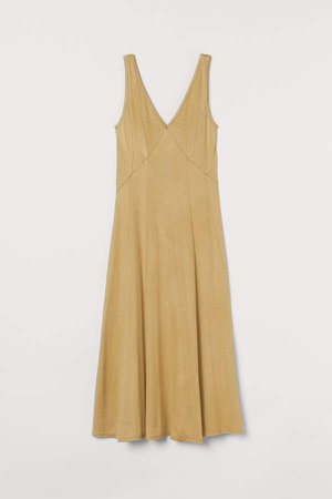 V-neck Dress - Yellow