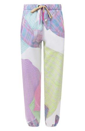 Женские разноцветные хлопковые брюки NATASHA ZINKO — купить за 30750 руб. в интернет-магазине ЦУМ, арт. SS20517-33
