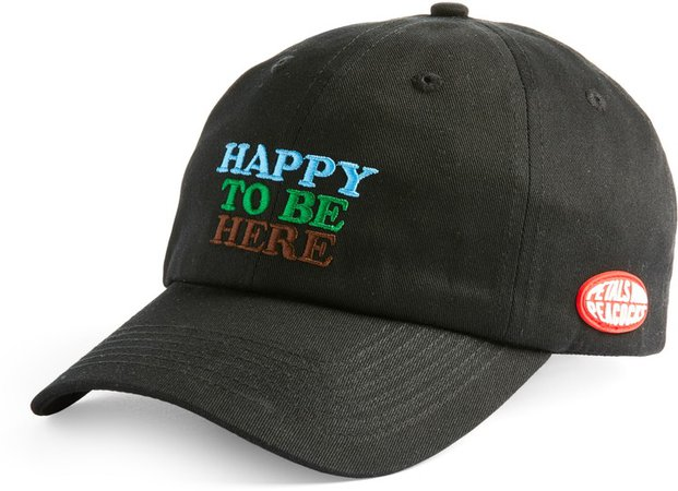 Petals And Peacocks Happy Here Dad Hat