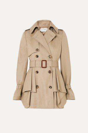 Alexander McQueen   Peplum cotton-gabardine trench coat   NET-A-PORTER.COM