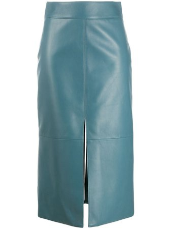 Givenchy mid-length Leather Pencil Skirt - Farfetch