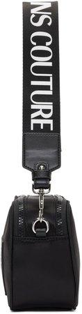 Versace Jeans Couture: Black Logo Camera Bag   SSENSE UK
