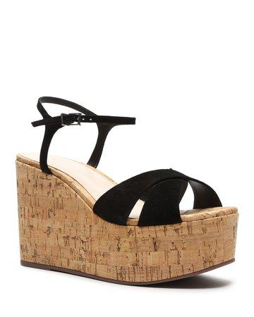 Schutz Bellina Suede Wedge Sandals | Neiman Marcus