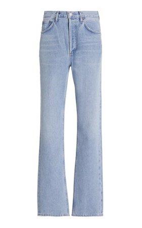 Lana Rigid Mid-Rise Straight Leg Jeans By Agolde | Moda Operandi