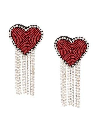 Venessa Arizaga Love Heart Clip-On Earrings | Farfetch.com