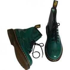 Green combat boots