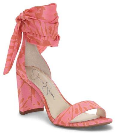 coral heel Jessica Simpson