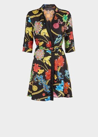 Gioielleria Jetés Print Silk Shirt Dress