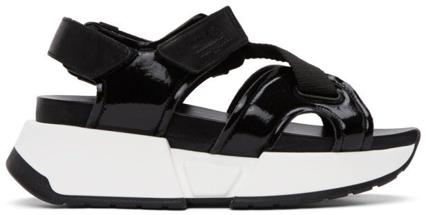 Black Multi Strap Sandals