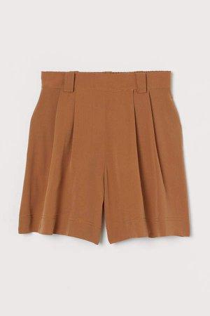 Silk Shorts - Beige