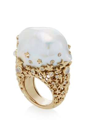 One-Of-A-Kind Starry Night Ring by Bibi van der Velden   Moda Operandi