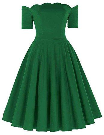 PAUL JONES Belle Poque Women's Off Shoulder Swing Dress Party Picnic Dress at Amazon Women's Clothing store: