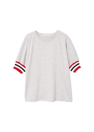 MANGO Contrast trim t-shirt