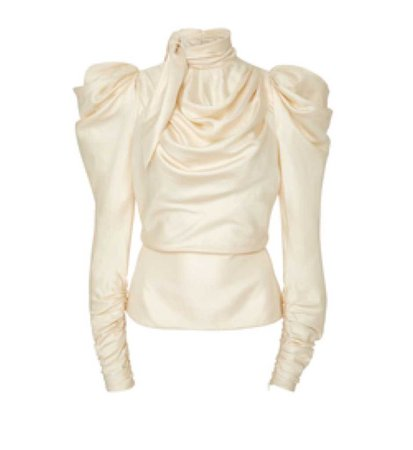 Scarf Bodice Silk Top by Zimmermann