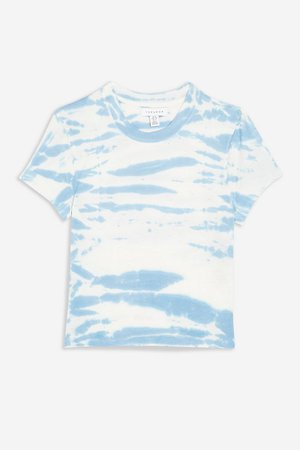 Blue Sky Tie Dye T-Shirt | Topshop