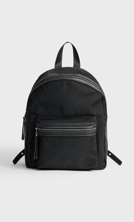 black Fabric backpack - Women's Just in | Stradivarius United States