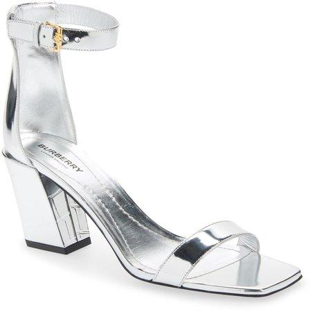 Pirmont Metallic Ankle Strap Sandal