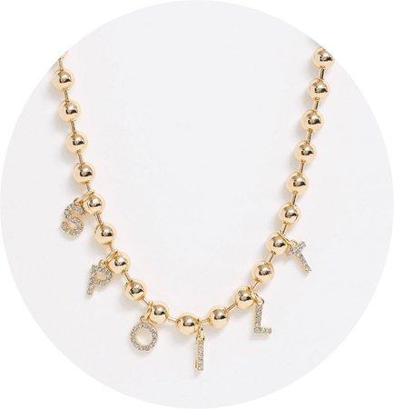 spoilt asos necklace