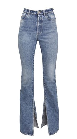 Attico Slit High Waist Jeans