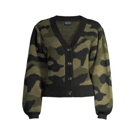 Scoop - Scoop Women's Camo Cardigan Sweater - Walmart.com - Walmart.com