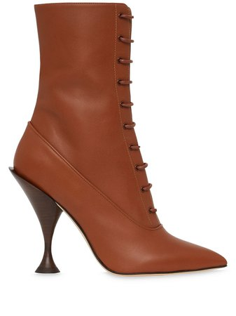 Burberry Lambskin Lace-up Ankle Boots - Farfetch