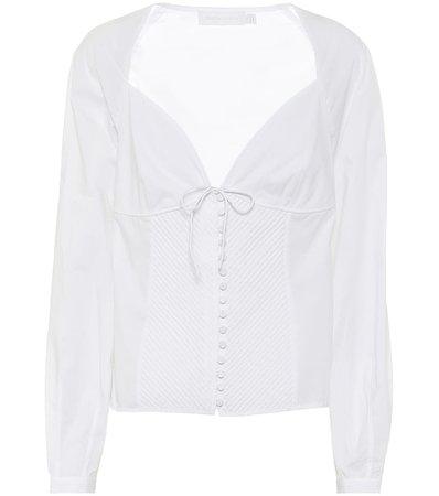Jonathan Simkhai, Stretch-cotton blouse