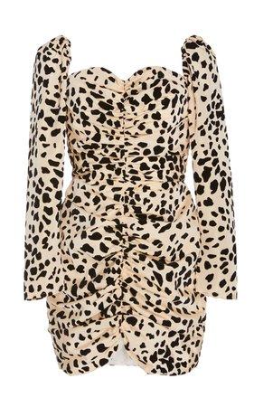 Exclusive Love Hangover Dalmatian-Print Crepe Mini Dress by Markarian | Moda Operandi