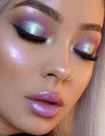 iridescent makeup look