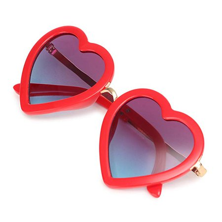 Amazon.com: CMK Trendy Kids Trendy Heart Shaped Sunglasses for Toddler Girls Age 3-10 (62015_red): Clothing