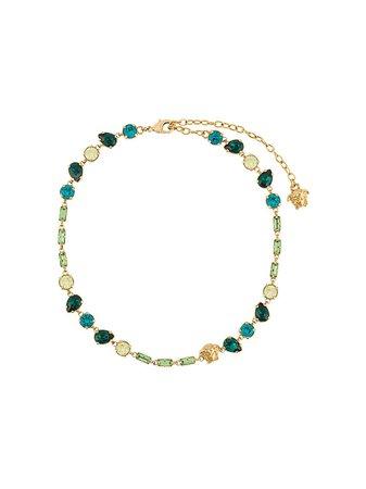 Versace crystal-embellished Medusa Necklace - Farfetch