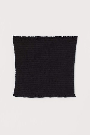 Smocked Tube Top - Black