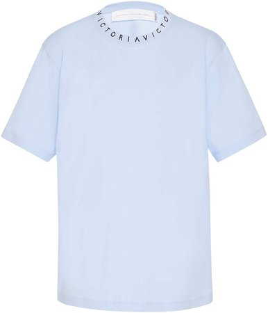 Victoria Logo Cotton T-Shirt