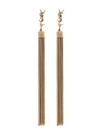 Saint Laurent Loulou Chain Tassel Earrings - Farfetch