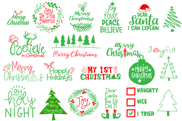 6 Happy Holiday Quote Bundles (Graphic) by carrtoonz · Creative Fabrica