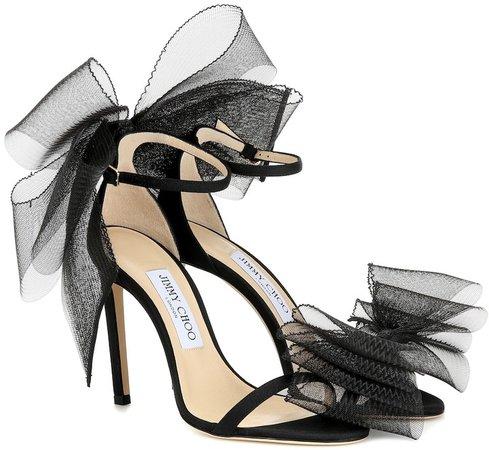 Aveline 100 tulle-trimmed sandals