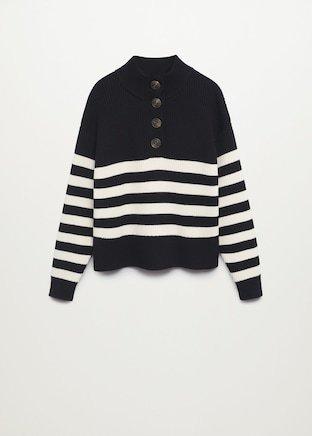 Striped knit sweater - Women | Mango USA