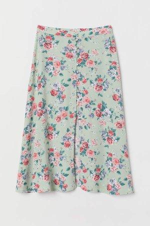 Calf-length Skirt - Green