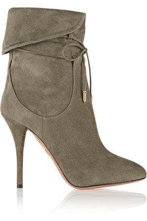 Aquazzura | + Olivia Palermo suede ankle boots | NET-A-PORTER.COM