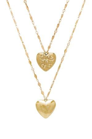 Layered Heart Locket Necklace