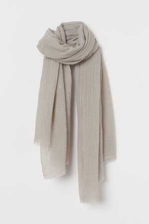 Wool-blend Scarf - Gray
