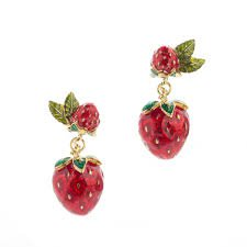 strawberry earring - Google Search