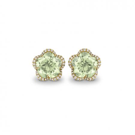 Eden Green Amethyst Flower Earrings - Kiki McDonough Jewellery - Sloane Square London | Kiki McDonough : Kiki McDonough Jewellery – Sloane Square London | Kiki McDonough