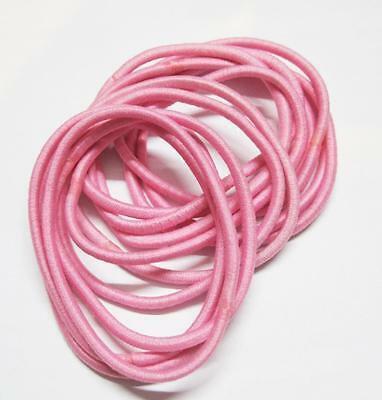 12 x Pink Hair Ties/ Hair Band / Elastic Hair Tie / Ponytailer 3mm Width   eBay