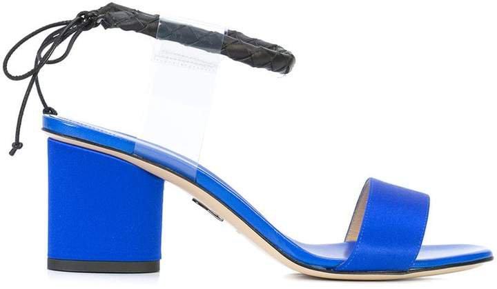 Estes contrast ankle strap sandals