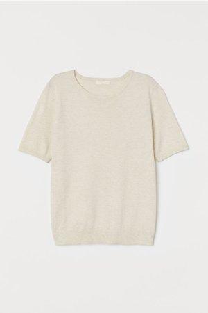Fine-knit Sweater - White - Ladies   H&M US